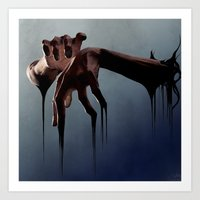 hands Art Prints featuring Hands by Jyri Straechav
