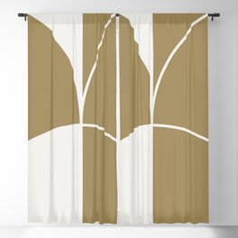 Diamond Series Round Solid Lines White on Gold Blackout Curtain