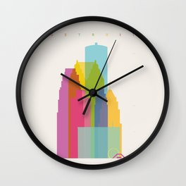 Shapes of Detroit Wall Clock