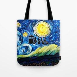 The Doctor With Starry Night Tote Bag