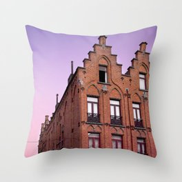 Old Lady - Street Photography - Belgium Throw Pillow