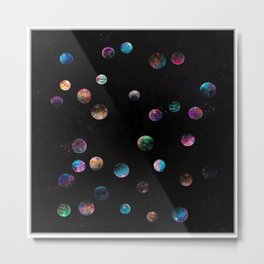 Crunch a Bunch of Imagined Planets Metal Print