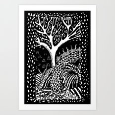 The woods are lovely, dark and deep Art Print