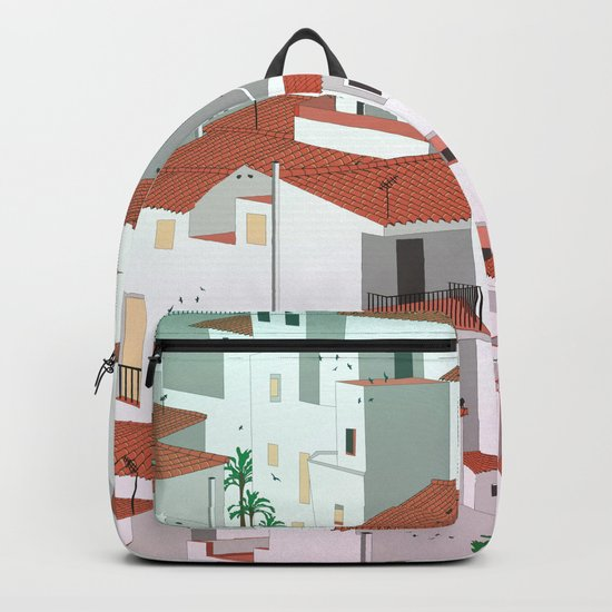 Sunset in my town Backpack