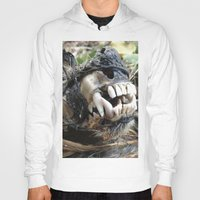 animal skull Hoodies featuring Animal Skull by CJ Thornburg