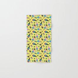 Cruncher - memphis throwback ice cream cone desert 1980s 80s style retro geometric neon pop art Hand & Bath Towel