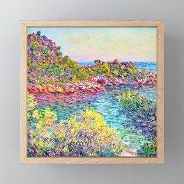 Landscape near Montecarlo - Claude Monet Framed Mini Art Print