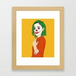 Joker girl - Put on a happy face Framed Art Print