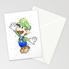 Luigi Watercolor Art Stationery Cards