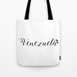 Venezuela lettering design Tote Bag
