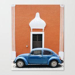 Orange & Blue / Mexico Canvas Print