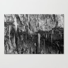 Ice columns in cave Canvas Print