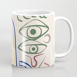 Native faces maroon lips Coffee Mug