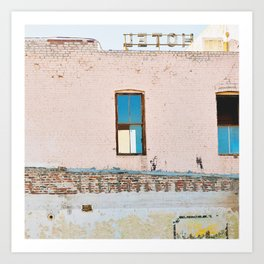 Route 66,Urban Decay, Fine Art Photography, Abandoned Building, Vintage Hotel,Americana Art Print