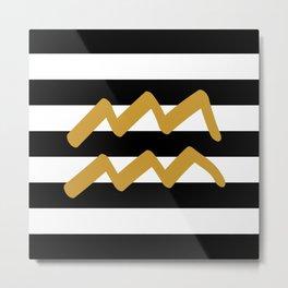 Aquarius Stripes Metal Print