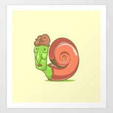 Swag Snail Art Print