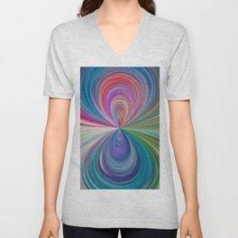 351 - Abstract Colour Design Unisex V-Neck