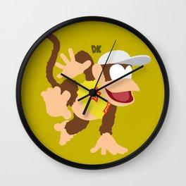 DIDDY KONG(SMASH)YELLOW Wall Clock