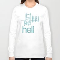 hell Long Sleeve T-shirts featuring hell by Josh LaFayette