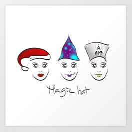 Magic hat of Christmas Art Print