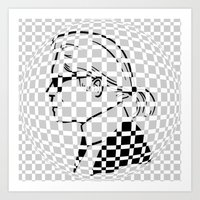 karl lagerfeld Art Prints featuring Karl by cvrcak