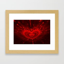 Cupid's Arrows   Valentines Day   Love Red Black Heart Texture Pattern Framed Art Print