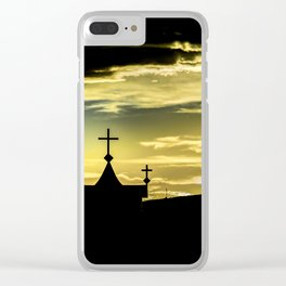 Graves at Side of Road in Santa Cruz, Argentina Clear iPhone Case