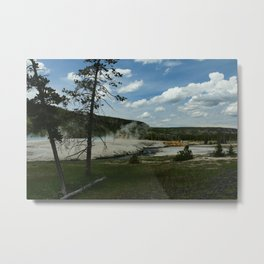 Firehole River And Geyser Area Metal Print