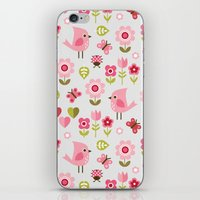 karu kara iPhone & iPod Skins featuring JARDIN DE L'AMOUR by Daisy Beatrice