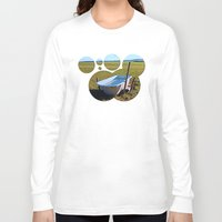 outdoor Long Sleeve T-shirts featuring Outdoor pool | conceptual photography by Patrick Jobst