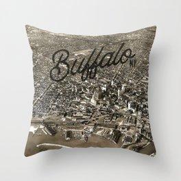 BUFFALO THEN Throw Pillow