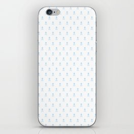 LIGHT BLUE SKULLS ALL OVER PRINT LARGE iPhone Skin