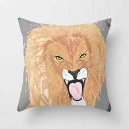 The Lion of the Tribe of Judah Throw Pillow