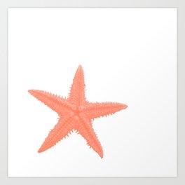 Coral Starfish Art Print
