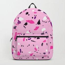 Pink Shadows Terrazzo Backpack