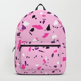 Pink Shadows Terrazzo Backpack