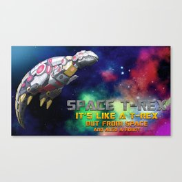 Space T-Rex  Canvas Print