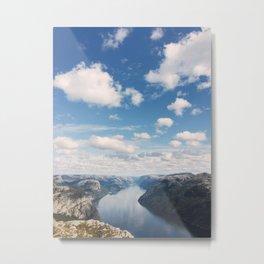 Lysefjorden, Pulpit Rock, Norway Metal Print