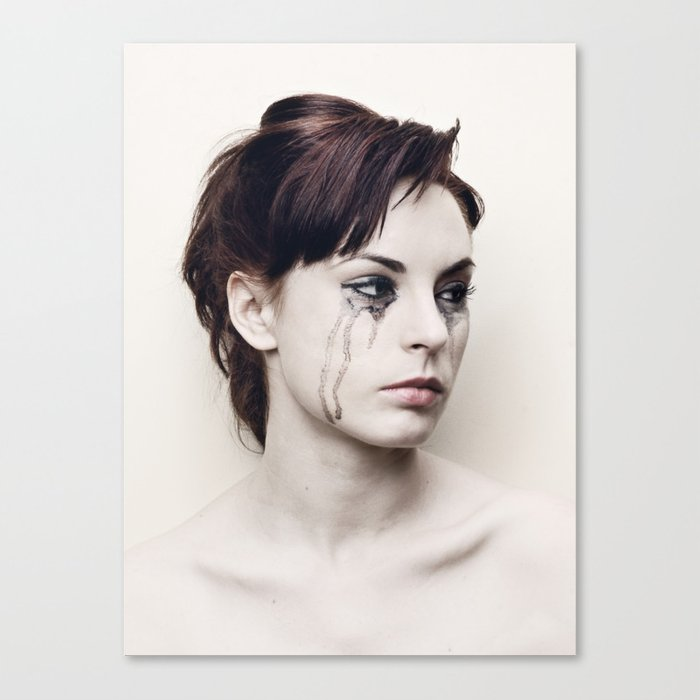 black tears Canvas Print