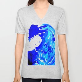 Save The Water Watercolour Unisex V-Neck