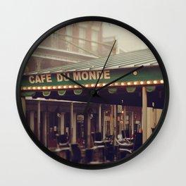 Foggy Cafe Du Monde Wall Clock