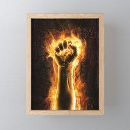 Fire fist Framed Mini Art Print