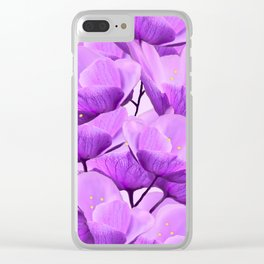 Violet Anemones Spring Atmosphere #decor #society6 #buyart Clear iPhone Case