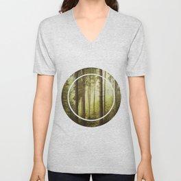 Fir Forest in Fog Unisex V-Neck