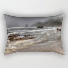 Foggy Day at Trinidad Beach Rectangular Pillow