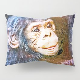 Cute Chimpanzee Baby Pillow Sham