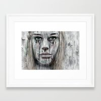 woman Framed Art Prints featuring woman by teddynash