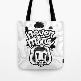 Edgar Allan Poe - Never More B/W Tote Bag