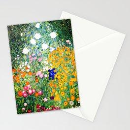Flower Garden by Gustav Klimt vibrant Stationery Cards