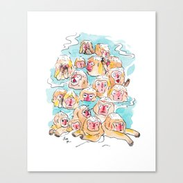 Wild Family Series - Snow Monkey Canvas Print